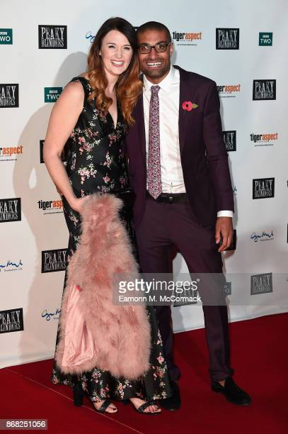 Richie Anderson and Beccy Wood attend the Birmingham Premiere of Peaky Blinders at cineworld on October 30 2017 in Birmingham England