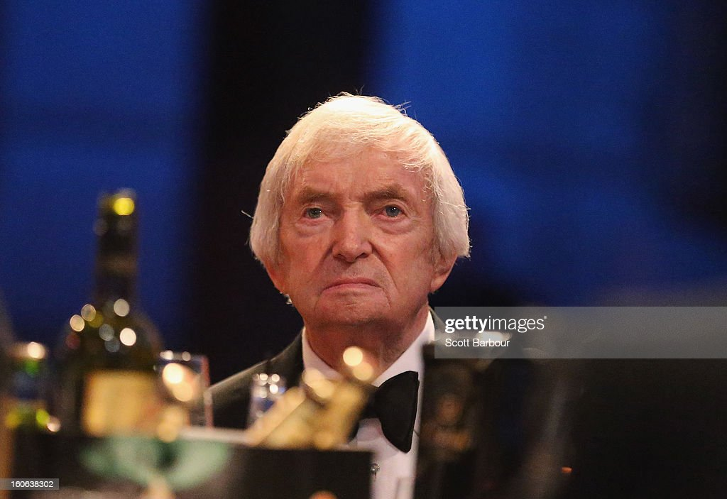 Richie Benaud looks on during the 2013 Allan Border Medal awards ceremony at Crown Palladium on February 4, 2013 in Melbourne, Australia.