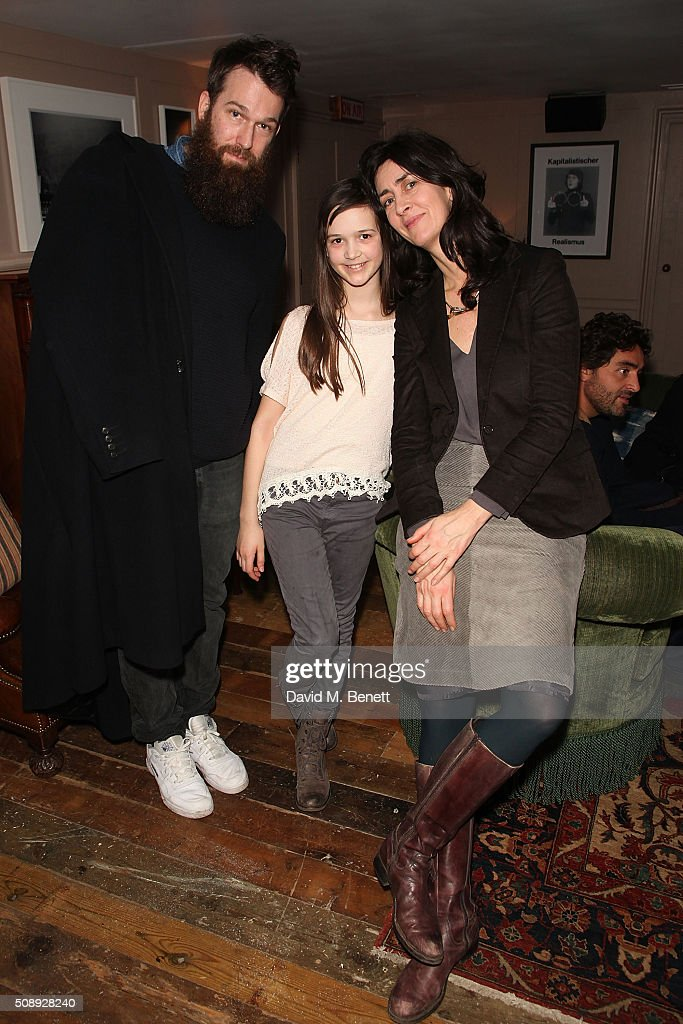 Richie Culver, Isabella Barraclough and Rachel Barraclough attend a special screening of 'The Uncountable Laughter of The Sea' at Soho House Dean Street on February 7, 2016 in London, England.