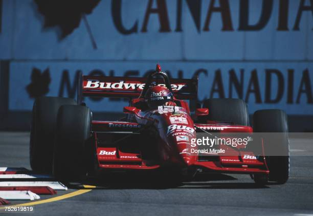 Richie Hearn of the United States drives the Della Penna Motorsports Reynard 99i Toyota V8t during practice for the Championship Auto Racing Teams...