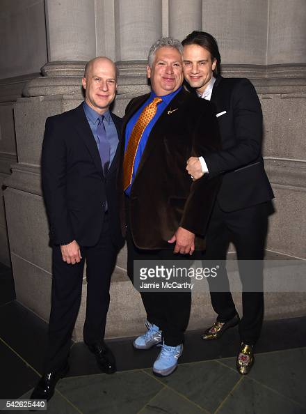 Richie Jackson Honoree Harvey Fierstein and Jordan Roth attend 2016 Logo's Trailblazer Honors at Cathedral of St John the Divine on June 23 2016 in...