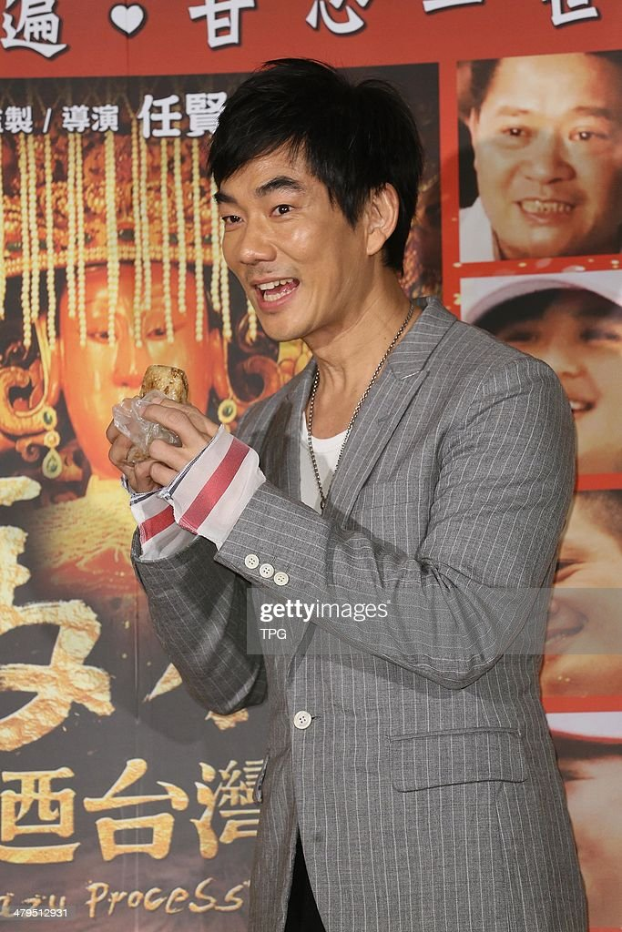 Richie Jen at press conference on Monday March 17,2014 in Taipei,China.