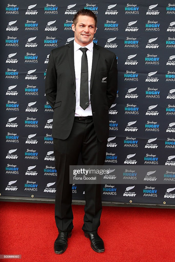 Richie McCaw arrives at the 2015 Steinlager Rugby Awards on December 11, 2015 in Auckland, New Zealand.