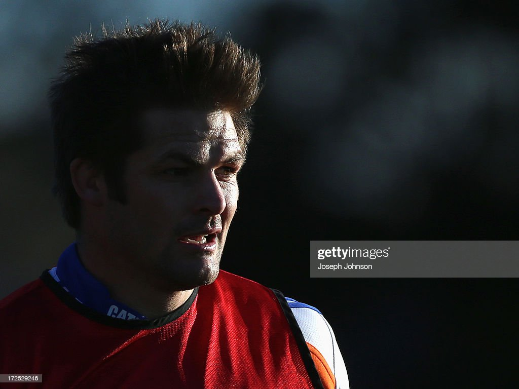 <a gi-track='captionPersonalityLinkClicked' href=/galleries/search?phrase=Richie+McCaw&family=editorial&specificpeople=165235 ng-click='$event.stopPropagation()'>Richie McCaw</a> looks on during a Crusaders Super Rugby training session at Rugby Park on July 3, 2013 in Christchurch, New Zealand.