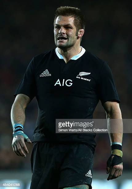 Richie McCaw of the All Blacks during The Rugby Championship match between the New Zealand All Blacks and the Australian Wallabies at Eden Park on...