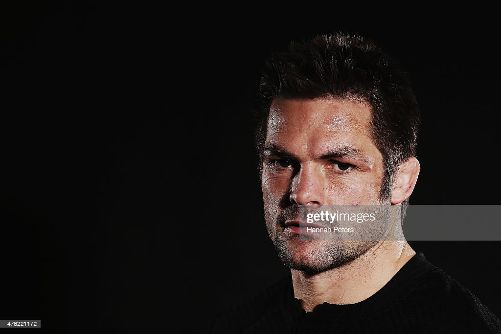<a gi-track='captionPersonalityLinkClicked' href=/galleries/search?phrase=Richie+McCaw&family=editorial&specificpeople=165235 ng-click='$event.stopPropagation()'>Richie McCaw</a> of the All Blacks poses for a photo during the New Zealand All Blacks portrait session at The Spencer on Byron Hotel on June 24, 2015 in Auckland, New Zealand.