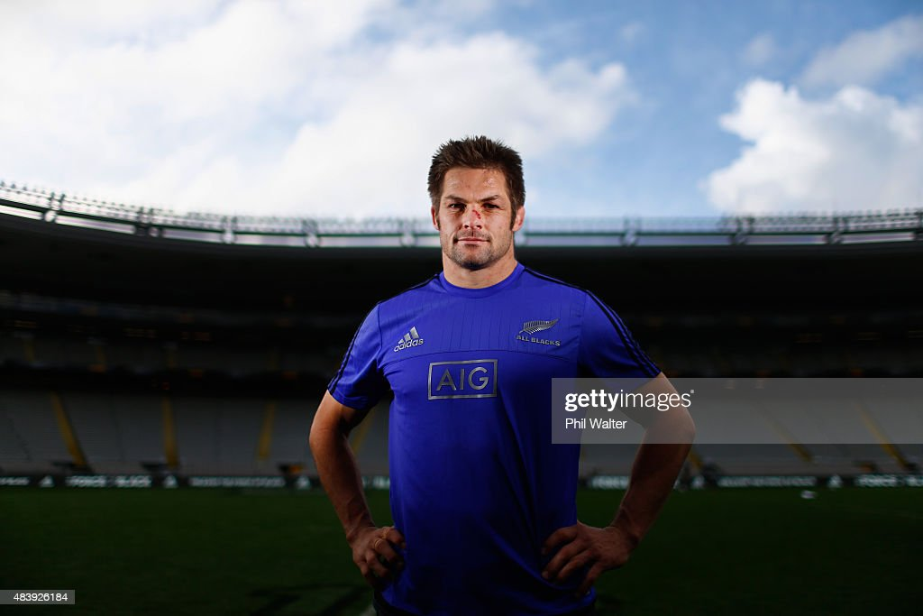 <a gi-track='captionPersonalityLinkClicked' href=/galleries/search?phrase=Richie+McCaw&family=editorial&specificpeople=165235 ng-click='$event.stopPropagation()'>Richie McCaw</a> of the All Blacks poses for a portrait during the New Zealand All Blacks Captain's Run at Eden Park on August 14, 2015 in Auckland, New Zealand.