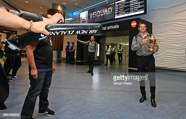 Richie McCaw of the New Zealand All Blacks arrives at the Auckland International Airport on November 4 2015 in Auckland New Zealand The All Blacks...