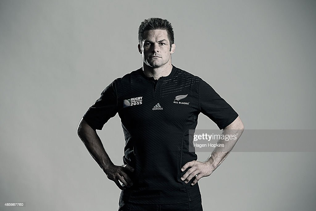 <a gi-track='captionPersonalityLinkClicked' href=/galleries/search?phrase=Richie+McCaw&family=editorial&specificpeople=165235 ng-click='$event.stopPropagation()'>Richie McCaw</a> poses during a New Zealand All Blacks Rugby World Cup Squad Portrait Session on August 31, 2015 in Wellington, New Zealand.