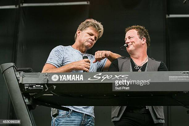 Richie McDonald and Dean Sams of Lonestar perform on stage at the Watershed Music Festival 2014 at The Gorge on August 2 2014 in George Washington