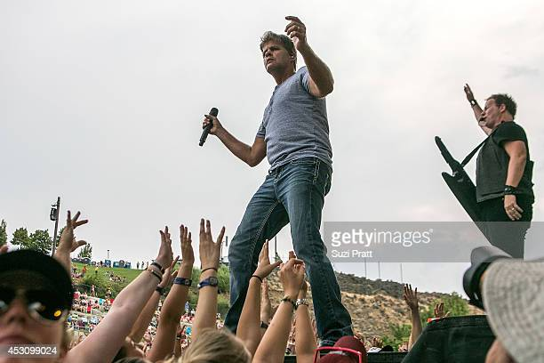Richie McDonald and Dean Sams of Lonestar performs on stage at the Watershed Music Festival 2014 at The Gorge on August 2 2014 in George Washington