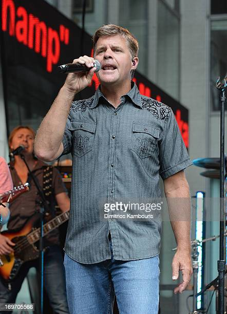 Richie McDonald lead singer for Lonestar performs during 'FOX Friends' All American Concert Series outside of FOX Studios on May 31 2013 in New York...