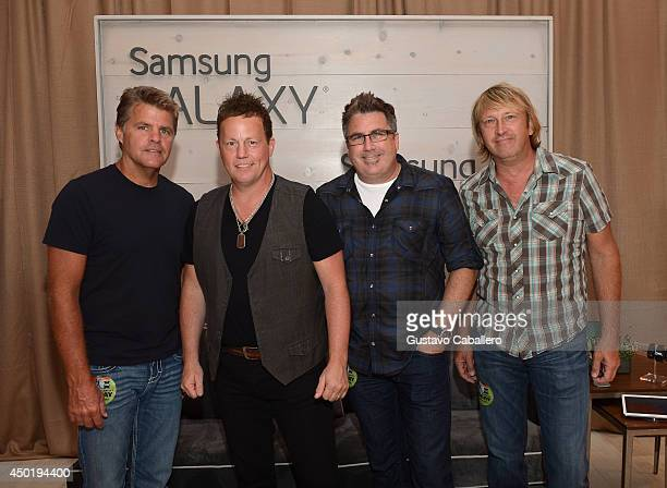 Richie McDonald Michael Britt Dean Sams Keech Rainwater of LoneStar at the Samsung Galaxy Artist Lounge at the 2014 CMA Music Festival on June 6 2014...