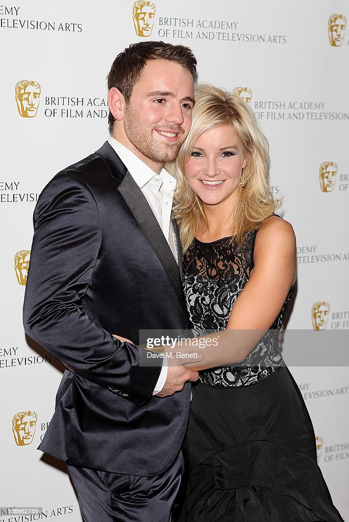Richie Myler (L) and <a gi-track='captionPersonalityLinkClicked' href=/galleries/search?phrase=Helen+Skelton&family=editorial&specificpeople=5831127 ng-click='$event.stopPropagation()'>Helen Skelton</a> arrive at the British Academy Children's Awards at the London Hilton on November 25, 2012 in London, England.