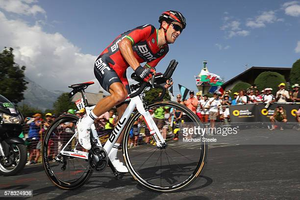 Richie Porte of Australia and BMC Racing Team rides during stage eighteen of the 2016 Le Tour de France from Sallanches to Megeve on July 21 2016 in...