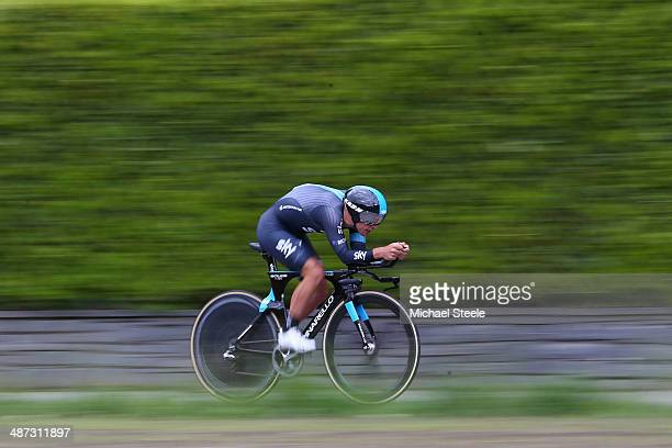 Richie Porte of Australia and Team Sky during the 557km Prologue stage of the Tour de Romandie on April 29 2014 in Ascona Switzerland