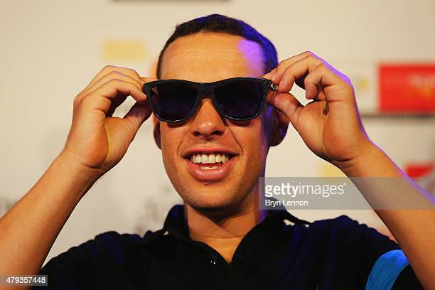 Richie Porte of Australia and Team SKY talks to the media during a press conference ahead of the 2015 Tour de France on July 3 2015 in Utrecht...