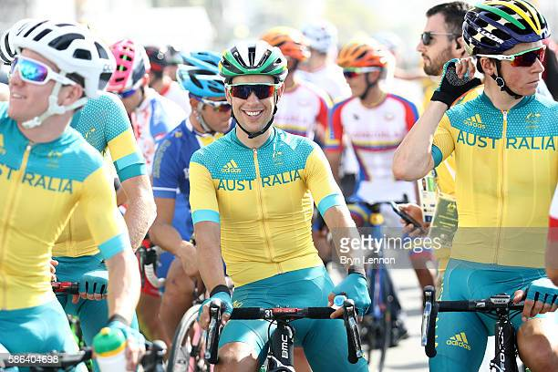 Richie Porte of Australia prepares to start during the Men's Road Race on Day 1 of the Rio 2016 Olympic Games at the Fort Copacabana on August 6 2016...