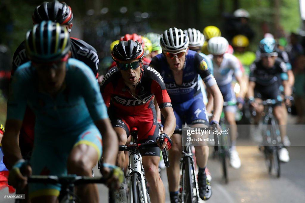 Richie Porte of Australia riding for BMC Racing Team rides in the peloton during stage ninteen of the 2016 Le Tour de France a 146km stage from...
