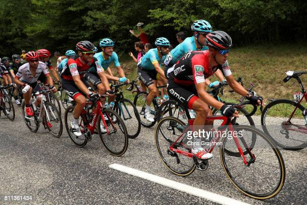 Richie Porte of Australia riding for BMC Racing Team rides in the peloton during stage 9 of the 2017 Le Tour de France a 1815km stage from Nantua to...