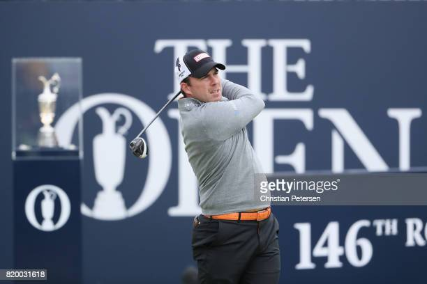 Richie Ramsay of Scotland hits his tee shot on the 1st hole during the second round of the 146th Open Championship at Royal Birkdale on July 21 2017...