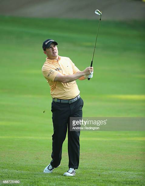 Richie Ramsay of Scotland is pictured on the 11th hole during the first round of the 72nd Open d'Italia at Golf Club Milano on September 17 2015 in...
