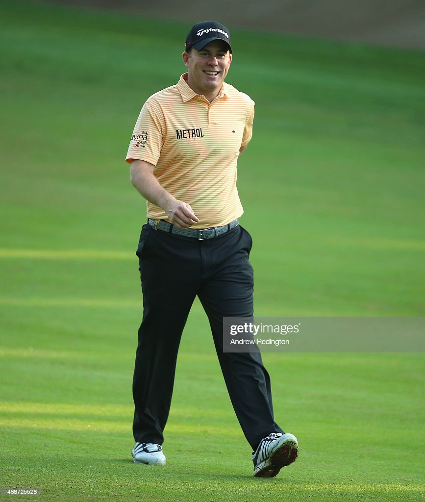 <a gi-track='captionPersonalityLinkClicked' href=/galleries/search?phrase=Richie+Ramsay&family=editorial&specificpeople=2286222 ng-click='$event.stopPropagation()'>Richie Ramsay</a> of Scotland is pictured on the 11th hole during the first round of the 72nd Open d'Italia at Golf Club Milano on September 17, 2015 in Monza, Italy.