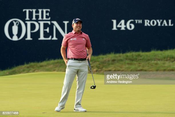 Richie Ramsay of Scotland reacts to a putt on the 18th hole during the third round of the 146th Open Championship at Royal Birkdale on July 22 2017...