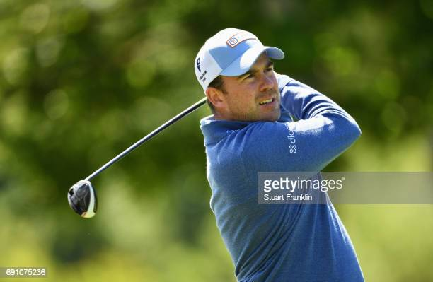 Richie Ramsay of Scotland tees off during day one of the Nordea Masters at Barseback Golf Country Club on June 1 2017 in Barsebackshamn Sweden