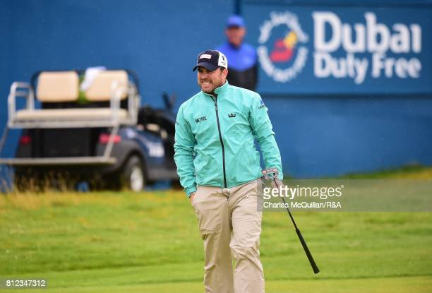 Richie Ramsey of Scotland on the 18th green during the Dubai Duty Free Irish Open hosted by the Rory Foundation at Portstewart Golf Club on July 9...
