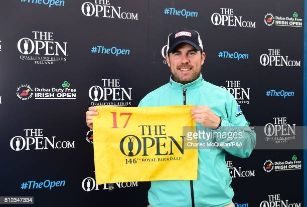 Richie Ramsey of Scotland pictured after winning qualification to the Open at Royal Birkdale following his final round at the Dubai Duty Free Irish...