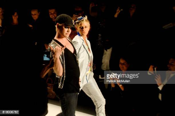 Richie Rich and Ellen DeGeneres attend Richie Rich 2011 Fashion Show at The Studio at Lincoln Center on September 9 2010 in New York City