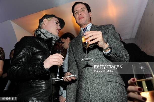 Richie Rich and Peter Davis attend Cocktails in honor of W Hotels' newly appointed Fashion Director at W Lounge on February 16 2010 in New York City