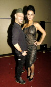 Richie Rich designer Angelo Lambrou and Jenni Farley also known as 'JWoww' from the MTV show ''Jersey Shore'' attend the Richie Rich Fall 2011...