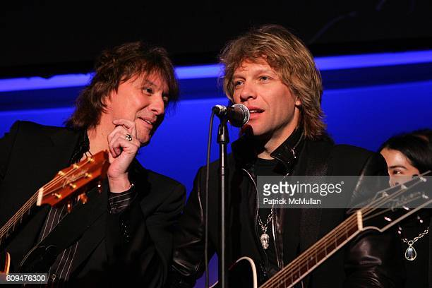Richie Sambora and Jon Bon Jovi attend Jon Bon Jovi and Kenneth Cole Team Up For An Unforgettable Night of Fundraising At 'RSVP To Help' at Tribeca...