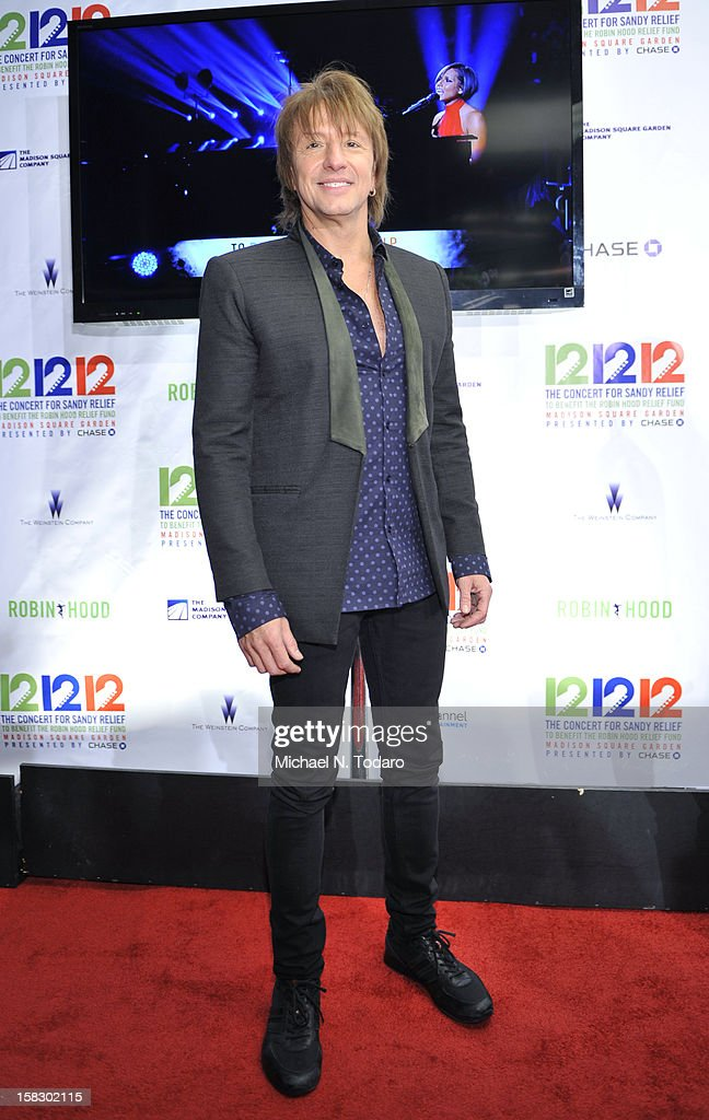 Richie Sambora attends 12-12-12 the Concert for Sandy Relief at Madison Square Garden on December 12, 2012 in New York City.