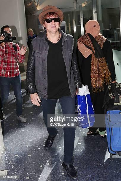 Richie Sambora is seen arriving at Los Angeles International airport on November 23 2013 in Los Angeles California