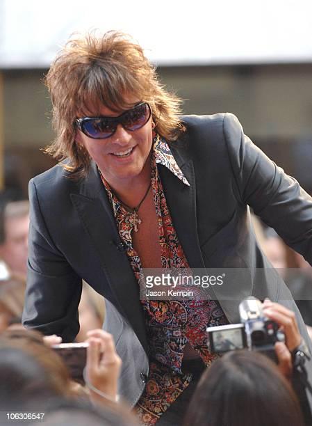 Richie Sambora of Bon Jovi during Bon Jovi Performs On The 'Today Show' June 19 2007 at Rockefeller Plaza in New York City New York United States