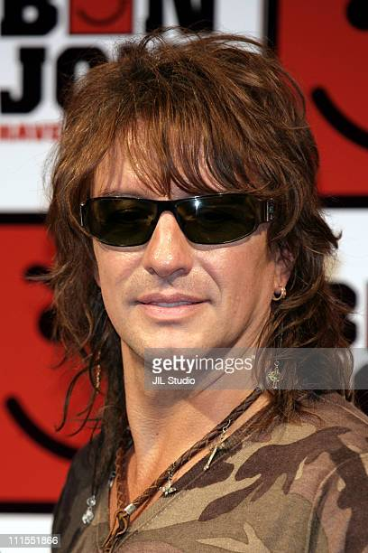 Richie Sambora of Bon Jovi during Bon Jovi Tokyo Press Conference For Their New Album 'Have A Nice Day' at Park Hyatt Tokyo in Tokyo Japan