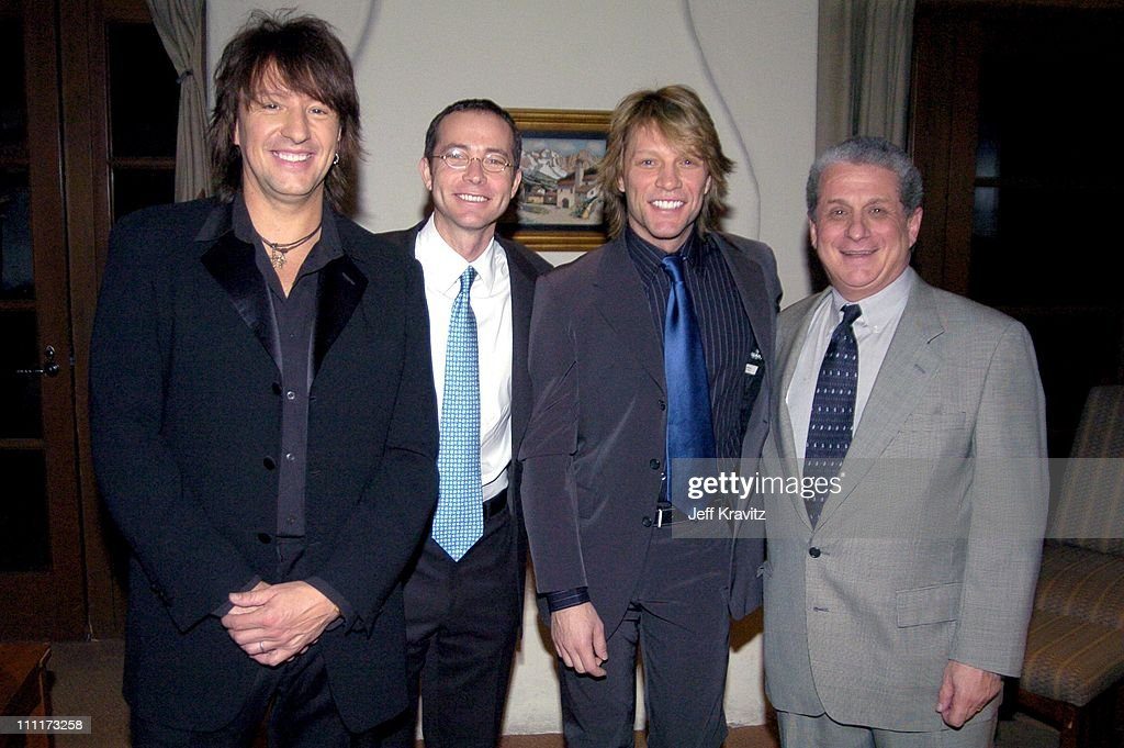 Richie Sambora, Richard Lovett, Jon Bon Jovi, and Douglas Greenberg, Shoah Foundation President and CEO *Exclusive*