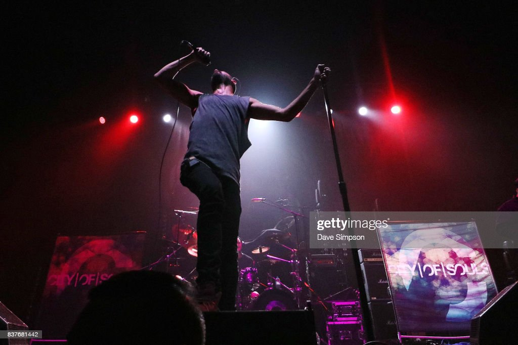 Richie Simpson of City Of Souls performs at Spark Arena on August 23, 2017 in Auckland, New Zealand.