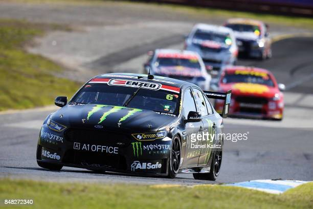 Richie Stanaway drives the Monster Energy Ford Falcon FGX during the Sandown 500 which is part of the Supercars Championship at Sandown International...