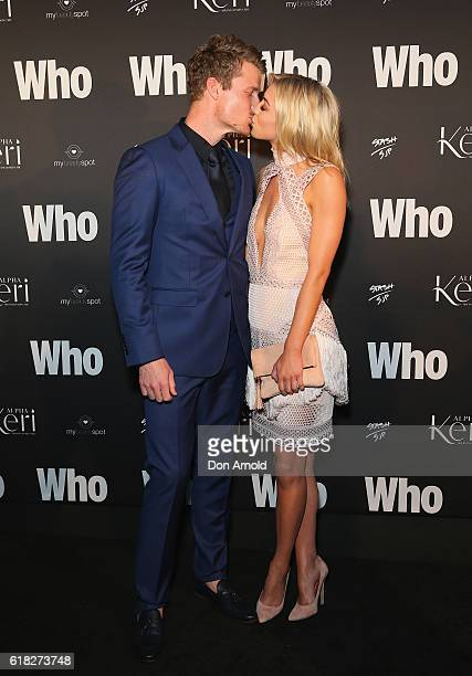 Richie Strahan and Alex Nation arrive ahead of the WHO Sexiest People Party on October 26 2016 in Sydney Australia