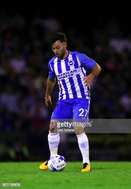 Richie Towell of Brighton Hove Albion runs with the ball during the preseason friendly match between Southend United and Brighton Hove Albion at...
