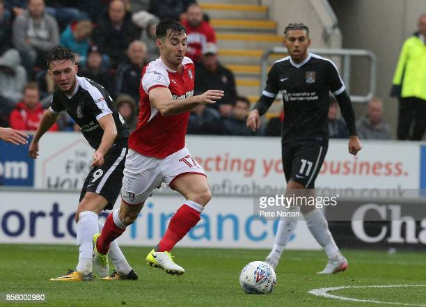 Richie Towell of Rotherham United in action during the Sky Bet League One match between Rotherham United and Northampton Town at The Aesseal New York...