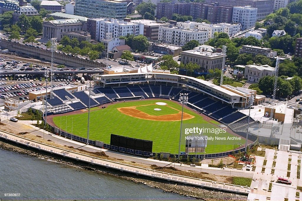 Richmond County Bank Ballpark at St George the new stadium of the Staten Island Yankees the Class A minor league affiliate of the New York Yankees