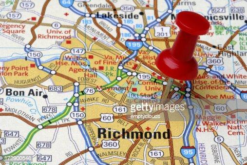 Richmond on a Map