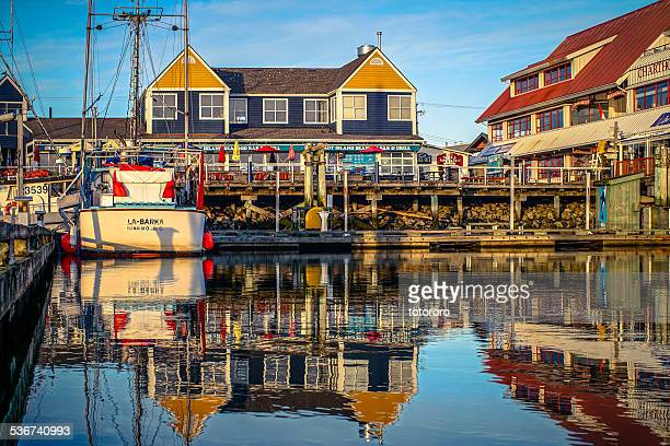 Richmond Steveston Fisherman's Wharf at Sunset
