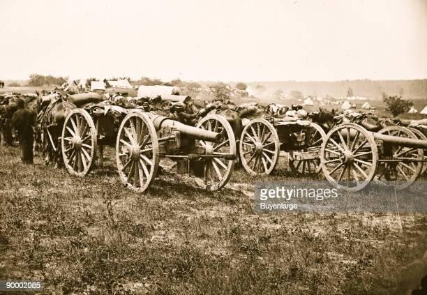 Richmond Va vicinity 20pdr v Parrott rifled guns of the 1st New York Battery