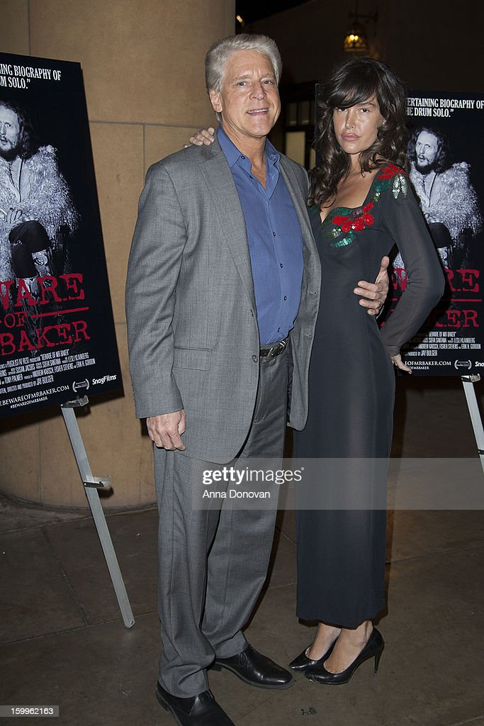 Rick Allen and Actress Paz de la Huerta attends a special screening of 'Beware Of Mr Baker' at the Egyptian Theatre on January 23 2013 in Hollywood...